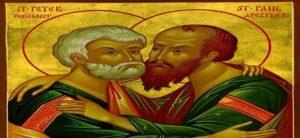 დიდებულნი და ყოვლადქებულნი თავნი მოციქულთანი: პეტრე და პავლე